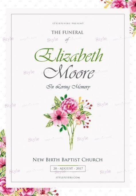 Funeral Psd Flyer Template 20268 Styleflyers Funeral Flyer Template
