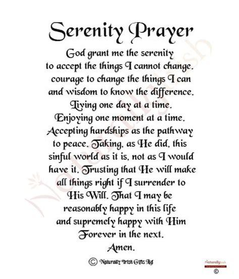 printable prayer quotes las 25 mejores ideas sobre full serenity prayer en