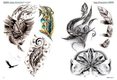 tattoo flash feather birds and feathers