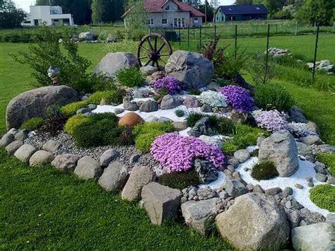 Small Bathroom Decorating Ideas On A Budget Beautiful Front Yard Rock Garden Landscaping Ideas 55