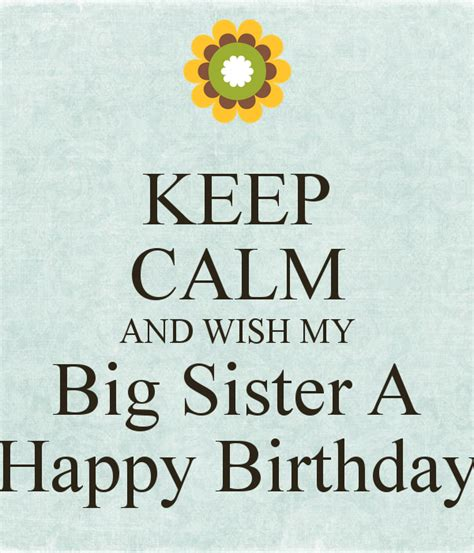 Happy Birthday Wishes To My Big Birthday Wishes For Sister Page 6