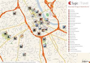 map of nashville attractions sygic travel