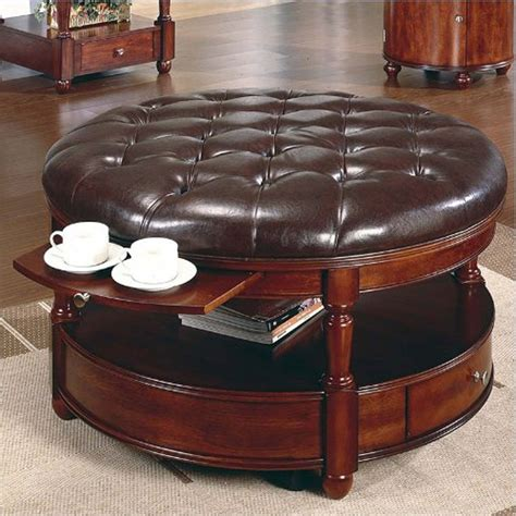 round coffee table in living room