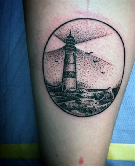 small lighthouse tattoo 100 lighthouse designs for a beacon of ideas