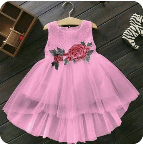 Dress Pesta Solemio Bunga Fanta baju dress pesta anak perempuan desain cantik lucu terbaru