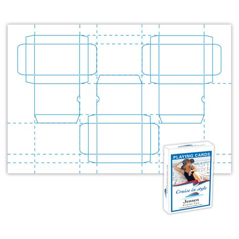 printable playing card template 5 best images of printable box template playing card