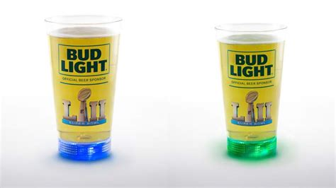 bud light light up glass bud light rolling out another patriots light up glass for
