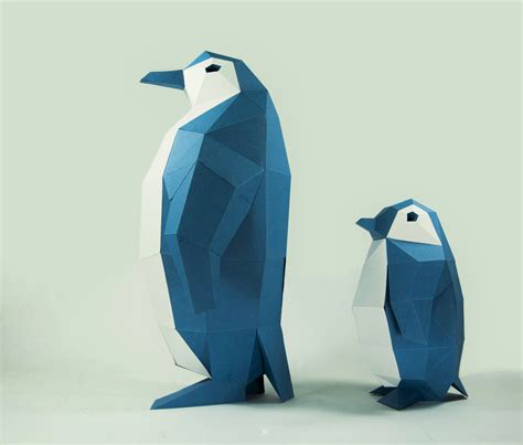 Penguin Papercraft - penguin model penguin paper diy kit 3d papercraft animals
