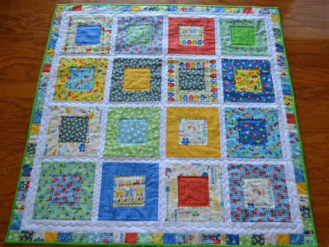 Handmade Pattern - you to see handmade baby quilt 43x43 baby talk by