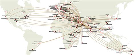 emirates destinations map emirates route map puts dubai at the centre of the world