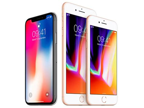 comparatif iphone x vs iphone 8 et 8 plus vs iphone 7 et 7 plus quelles diff 233 rences cnet