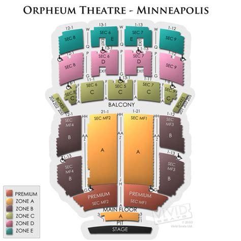 orpheum theatre minneapolis seating map orpheum theatre minneapolis tickets orpheum theatre