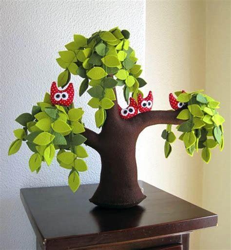 Handmade Trees - diy creative handmade felt trees from template