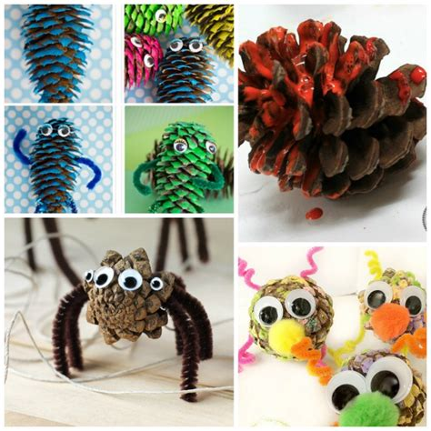 pinecone craft pine cone crafts for growing a jeweled