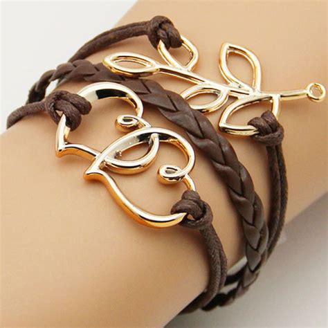 Pendant String Bracelet tree branch pendants mocha string bracelet