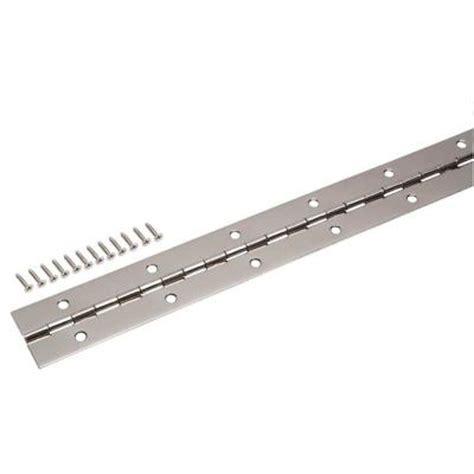 everbilt 1 1 2 in x 30 in bright nickel continuous hinge