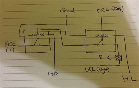 two way 12 led s running lights using 4017 and 555 astable light two relays for drl on a car electrical