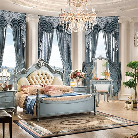 antique french style luxury classic wood bedroom furniture setused home furniture