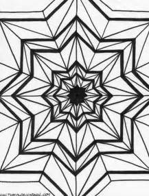 Kaleidoscope Printable Coloring Pages  sketch template