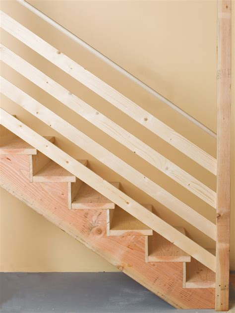 Cheap Banister Ideas by How To Install Basement Stairs How Tos Diy