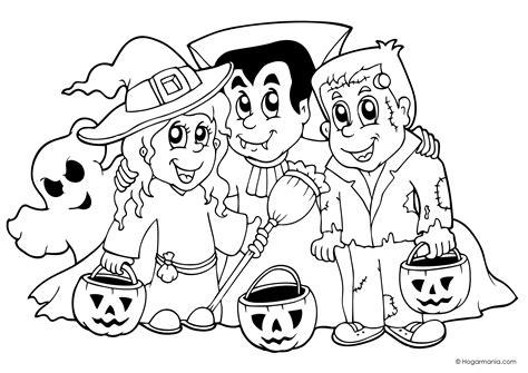 dibujos halloween a color imagui dibujo de halloween con personajes para colorear
