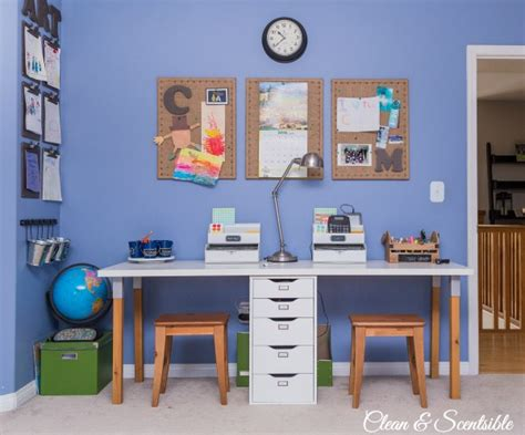 homework station ideas kids homework station clean and scentsible