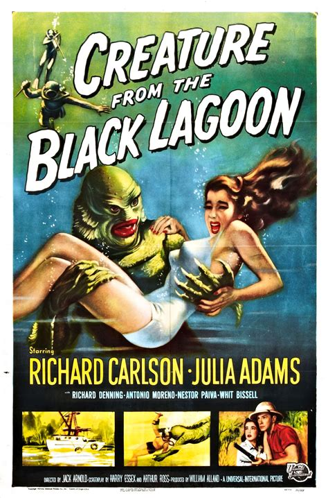 the creature chronicles exploring the black lagoon trilogy books poster for creature from the black lagoon 1954 usa