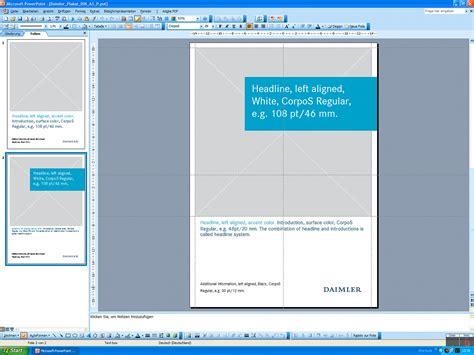 powerpoint layout hochformat daimler plakat template din a3 hochformat powerpoint