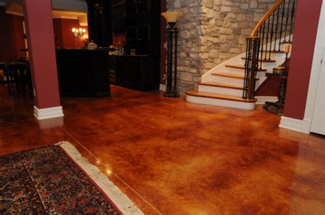 Staining Basement Floor by Decorative Concrete Resurfacing St Louis Announces 2012