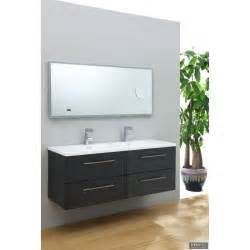 meuble vasque 140 meuble vasques gris structur 233 infinity 140 infinido fr