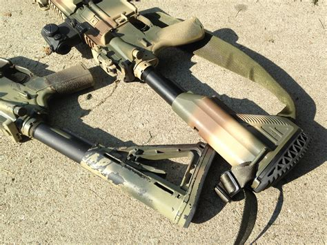 spray painting your rifle m14 forum aervoe coyote pics added