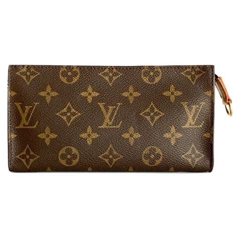 louis vuitton brown monogram toiletry pouch  cosmetic