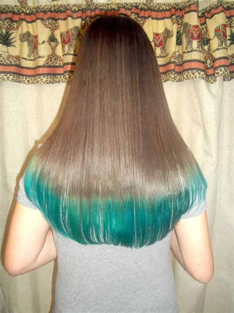 how to dye your hair with brown on the top half and blonde on bottom half how to dye your hair tips teal turquoise youtube