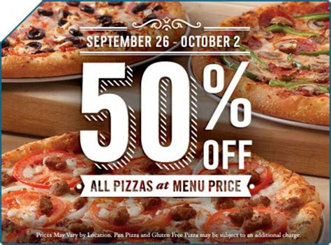 domino pizza edmonton domino s pizza 50 off all pizzas at menu price sept 26