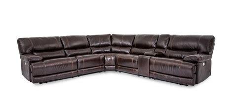 Cheers Sectional Sofa by Cheers Sofa Collins Leather Power Reclining 6