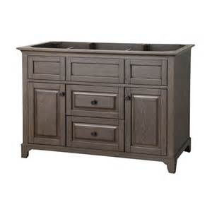 Lowes Vanity Canada Allen Roth Flda4821 48 In Specialty Grey Flintshire