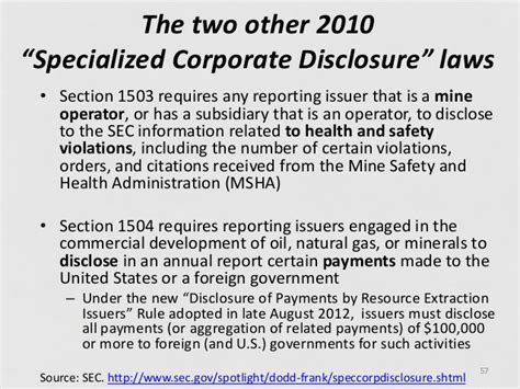 dodd frank section 1502 dodd frank section 1502 significance and public policy