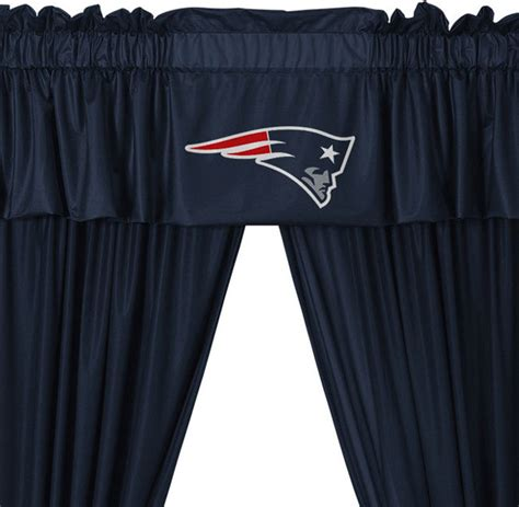 new england patriots curtains nfl new england patriots 5 piece long jersey curtain