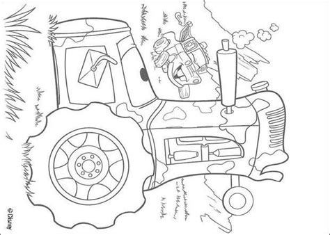 monster truck mater coloring page mater goes tractor tipping coloring pages hellokids com
