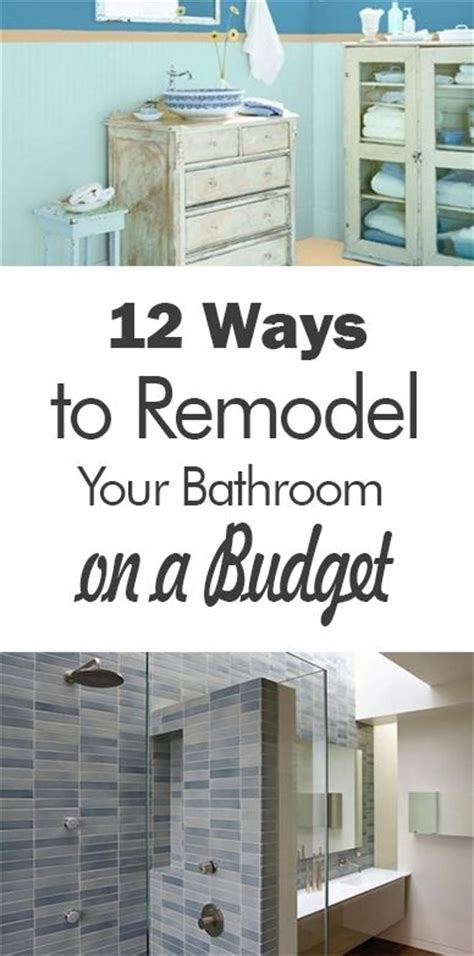 cheapest way to redo bathroom 25 best ideas about cheap bathroom remodel on pinterest