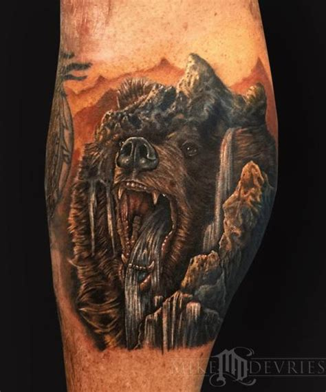 morph tattoo mountain morph by mike devries tattoos