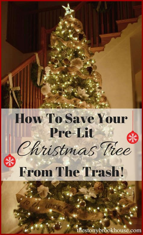 how do i fix my prelit xmas tree how to save your pre lit tree from the trash the stonybrook house