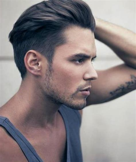 how to sweep hair back mens latest 2015 hairstyles for men swept up and slicked back