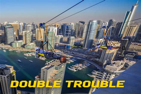 double  thrill   zipline  dubai marina dubai forum
