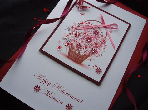 Handmade Retirement Card - luxury handmade retirement card handmade cards pink posh