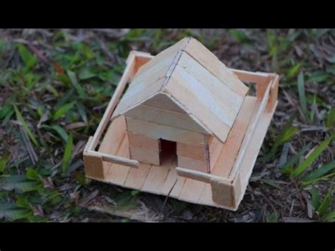 Collection of how to make ice cream stick house popsicle stick how to make a popsicle stick house miniature ice cream ccuart Choice Image