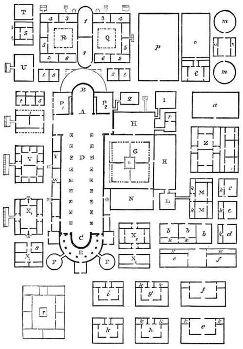 monastery floor plan layout of a monastery or