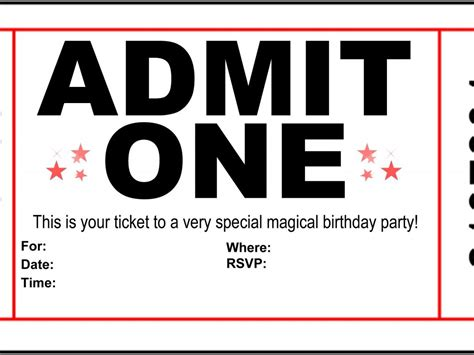 admit one ticket invitation cobypic com