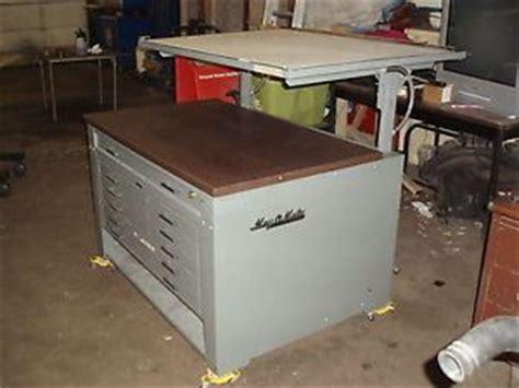 mayline desk o matic hamilton vr20 electric drafting table tilt desk top 60 quot x