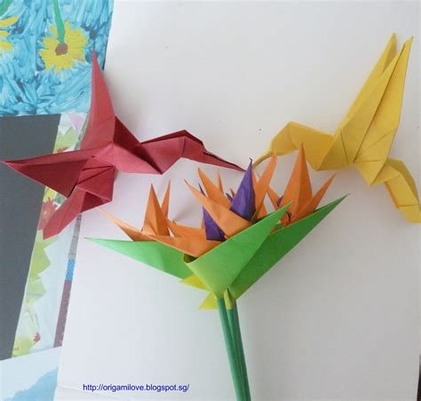 Origami Bird Of Paradise Flower - origami artist and freelance instructor in singapore